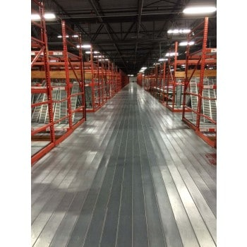 INTERLOCK GRATING RACK SUPPORTED MEZZANINE