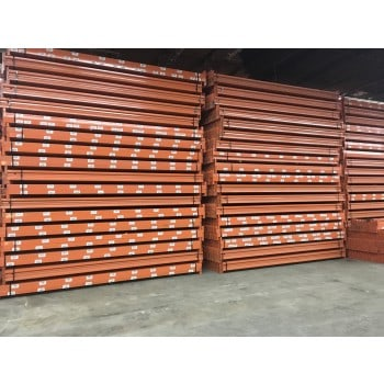 "USED INTERLAKE TEARDROP BEAMS 144"" X 3 1/4"", ORANGE"