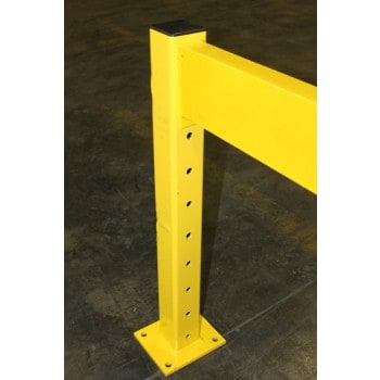 "Used Guard Rail Post / Safety Bollard 28""H, 3 X 3, Structural, Yellow"