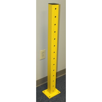 "Used Guard Rail Post / Safety Bollard 42""H, 3 X 3, Structural, Yellow"