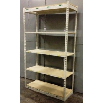 """Boltless Shelving Starter Unit : 18""""D X 48""""W X 84""""H with 5 shelves (Used)"""