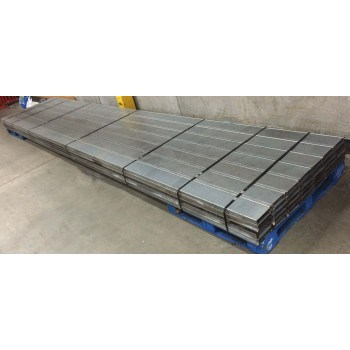 "USED INTERLOCK GRATING, PUNCHED SMOOTH,MALE- MALE LEGS, 252""L X 6""W"