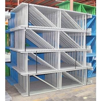 """New Keystone Upright: 8'H X 24""""D, 3 X 1-5/8 Post, Gray, 12K lbs Cap. @ 48"""" Beam Spacing"""