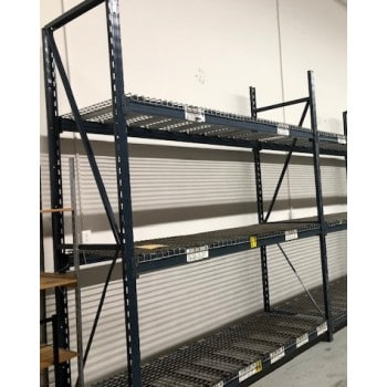 "Starter Unit: 120""H X 36""D X 96""L With 3 Shelves Blue"