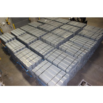 """USED INTERLOCK GRATING, PUNCHED SMOOTH,MALE- FEMALE LEGS, 68""""L X 9""""W,"""