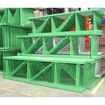 "New Teardrop Upright: 12'H X 36""D, 3"" X 3"" Green, 18K lbs Cap. @ 48"" Beam Spacing"