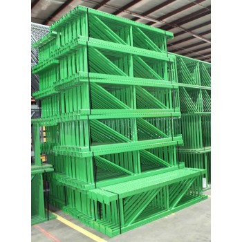 "New Teardrop Upright: 8'H X 24""D, 3"" X 1 5/8 Green, 11.5K lbs Cap. @ 48"" Beam Spacing"