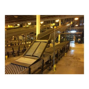 "65'L X 30""W Buschman Decline Belt Conveyor System"