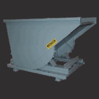 3 Cu Yard, Self Dumping Hopper, 4000 lb Capacity