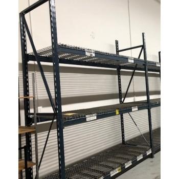 """Starter Unit: 120""""H X 36""""D X 96""""L With 3 Shelves Blue"""