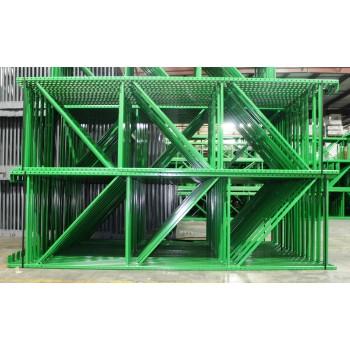 "New Teardrop Upright: 12'H X 42""D, 3"" X 1 5/8 Green, 11.5K lbs Cap. @ 48"" Beam Spacing"