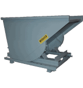 3 Cu Yard, Self Dumping Hopper, 4000 lb Capacity