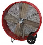 MaxxAir BF36DD RED High Velocity Direct Drive Drum Fan, 36-Inches, Red