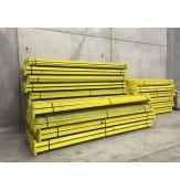 "USED INTERLAKE TEARDROP BEAMS 144"" X 3 1/4"", YELLOW"