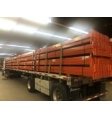 "USED TEARDROP BEAMS 144""L X 5""W,  4090 LBS CAP/SHELF UDL, 4 PIN CONNECTOR, ORANGE"