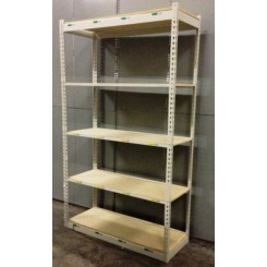 "Boltless Shelving Starter Unit : 18""D X 48""W X 84""H with 5 shelves (Used)"