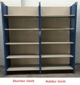 Used Closed Steel Shelving (Heavy Duty)